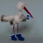 Stork in blue by Mint-Bird. 2015