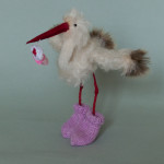 Stork in pink by Mint-Bird. 2015.