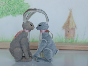 Hare&Hare by Mint-Bird. 2016. 11cm (sitting). Sassy. OOAK