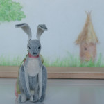 Hare by Mint-Bird. 2016. 11cm (sitting). Sassy. OOAK