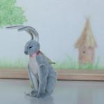 Hare by Mint-Bird. 2016. 11cm (sitting). Sassy. OOAK